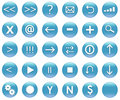 Icon Button Set For Navigation Royalty Free Stock Photography