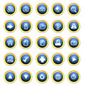 Icon buttons for the web Royalty Free Stock Photo