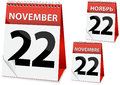 Icon calendar Thanksgiving Day Stock Images
