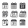 Icon calendar Royalty Free Stock Photo