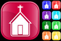 Icon of church Royalty Free Stock Photos