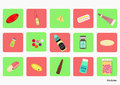 Icon colorful pills with different dosage forms medicine drug pharmaceutical health Stock Images