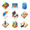 Icon concepts for business Royalty Free Stock Image