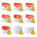 Icon convert set 2d with exclamation sign Royalty Free Stock Photos