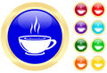 Icon of a cup on buttons Royalty Free Stock Photography