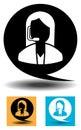 Icon - Customer Support - Illustration Royalty Free Stock Photo