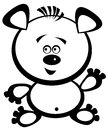 Icon cute teddy bear on white background