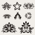 Icon decorative ornament vector set for pattern and icon art Royalty Free Stock Photography