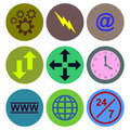 Icon designs a set of for graphic element use Royalty Free Stock Photography