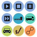 Icon designs a set of for graphic element use Royalty Free Stock Photos