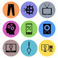 Icon designs a set of for graphic element use Royalty Free Stock Photo