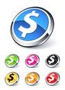 Icon dollar Royalty Free Stock Photo