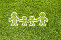 Icon family on green grass Royalty Free Stock Images