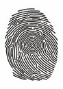 Icon Fingerprint. Identification fingerprints. Security and prints of fingers to pass access. System of bio recognition, identifyi