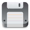 Icon for floppy disk Stock Image