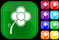 Icon of flower Stock Photo