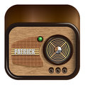 Icon form retro radio Stock Photos