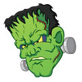 Icon of the frankensteins head on white bsckground Stock Image