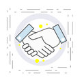 Icon of the handshake. Symbol of agreement and cooperation in business.