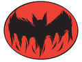 Icon happy halloween bat devil ghost line art vector face. Royalty Free Stock Photo
