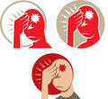 Icon of a headache or migraine depicting Stock Images