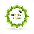 Icon for healing food vector Stock Photos