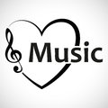 Icon Heart Music Notes
