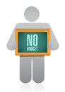 Icon holding a no budget sign illustration design