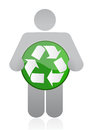 Icon holding a recycle Stock Images