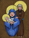 Icon holy family painted tablet Stock Images