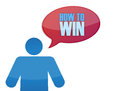 Icon with a how to win message illustration