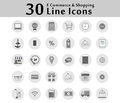 30 Icon Icons for Online Shopping Show business functions. There are many options.