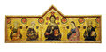 Icon of jesus christ surrounded by saints Royalty Free Stock Photography