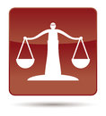 Icon of justice scales Royalty Free Stock Photo
