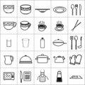 Icon kitchenware tools dish bowl restaurant Royalty Free Stock Photo