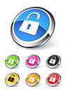 Icon lock open Stock Photo