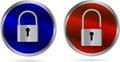 Icon - lock and Unlock Royalty Free Stock Photo