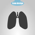 Icon Of Lungs On A Gray Backgr...