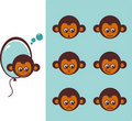 Icon of monkeys Stock Photo