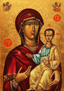 Icon of Mother of God and Jesus Stock Image