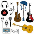 Icon of musical equipment isolated Stock Image