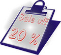Icon off 20 % Royalty Free Stock Photos