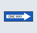 Icon One way traffic sign illustrated Royalty Free Stock Photo