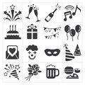 Icon party celebrate vector set Royalty Free Stock Photography