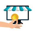 icon pc buy online design Royalty Free Stock Photo