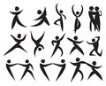 Icon of people dancing in different styles.