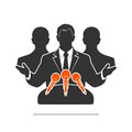 Icon people at a microphone Royalty Free Stock Photo