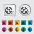 Icon reel of film Royalty Free Stock Photo
