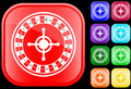 Icon of roulette Royalty Free Stock Image