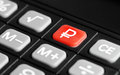 Icon of the ruble on keyboard Royalty Free Stock Photo